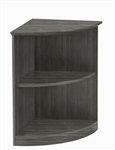 Mayline Medina Series Gray Steel Wood Laminate Corner Bookcase MVBQ2LGS