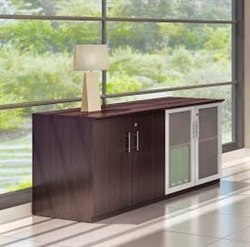 "72"" Medina Series Wall Cabinet in Mocha by Mayline"