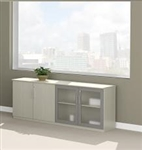 "72"" Medina Series Wall Cabinet with Textured Sea Salt Finish by Mayline"