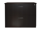 Mayline Medina Series Locking 2 Drawer Lateral File Cabinet with Mocha Finish