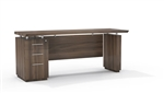 "Mayline Sterling STC72B 72"" Executive Credenza with BBF Pedestal"