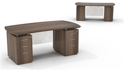 "Mayline Sterling STED72B 72"" Executive Desk with Pedestals"