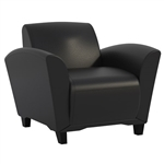 Santa Cruz Leather Lounge Chair VCC1 by Mayline