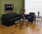 Mayline Santa Cruz Leather Lounge Furniture Set