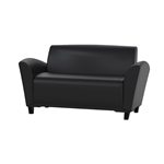 Santa Cruz Leather Settee VCC2 by Mayline