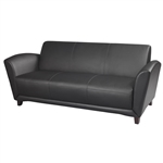 Santa Cruz Leather Reception Sofa VCC3 by Mayline