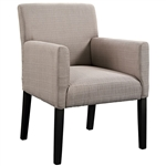 Modway Chloe Upholstered Guest Chair with Wood Legs
