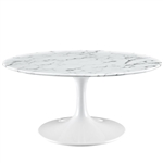 "Modway EEI-1140 Lippa Collection Artificial Marble Coffee Table with 42"" Top"