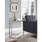 Modway EEI-125-SLV Eileen Gray Glass Top Accent Table
