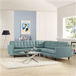 Modway Empress 3 Piece Tufted Fabric Sectional EEI-1417