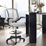 Modway Veer Modern Drafting Stool with Foot Ring