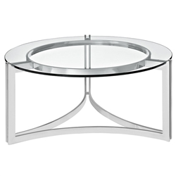Modway EEI-1438 Signet Coffee Table with Circular Glass Top