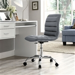 Modway Ripple Armless Vinyl Office Chair EEI-1532