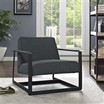 Modway Seg Gray Fabric Lounge Chair EEI-2074