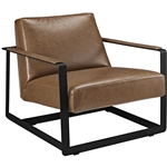 Modway EEI-2075 Seg Brown Vinyl Accent Chair
