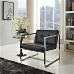 Hover Contemporary Vinyl Guest Chair by Modway