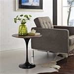 Modway Lippa Modern Black Side Table with Wood Top EEI-270