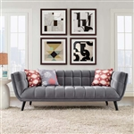 Modway Bestow Contemporary Velvet Sofa