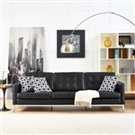 Modway Loft Tufted Leather Sofa EEI-2779