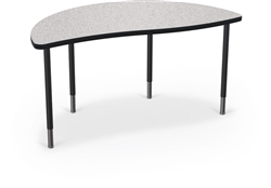 MooreCo Creator Collection Half Round Height Adjustable Modular Table