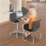 MooreCo Alpha Height Adjustable Mobile Workstation 27588