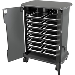 MooreCo Economy Locking 16 Capacity Tablet Charging Cart 27689