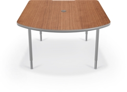 MooreCo 27750 MediaSpace Collaborative Table with Optional Power