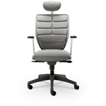 MooreCo Renew Modern Gray Office Chair with Headrest 34392