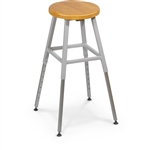 MooreCo Height Adjustable Backless Lab Stool 34419R