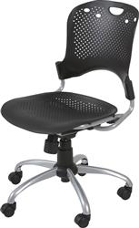 MooreCo Circulation Series Armless Polypropylene Task Chair 34552