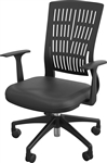 Black Mid Back Fly Chair by MooreCo