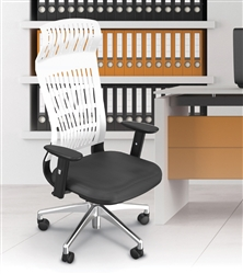 White MooreCo Fly Collection High Back Office Chair 34747