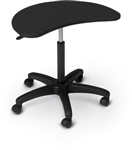 MooreCo POP Height Adjustable Laptop Workstation On Wheels