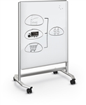 MooreCo Visionary Move Mobile Magnetic Glass Whiteboard 74950