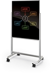 MooreCo Visionary Move Black Magnetic Glass Whiteboard 74950-B