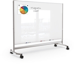 MooreCo 74951 Visionary Move Large Glass Whiteboard