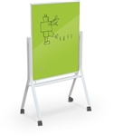 MooreCo Visionary Curve Green Glass Magnetic Dry Erase Board