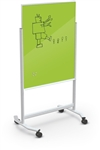 MooreCo Visionary Move Green Glass Writing Board with Magnetic Surface
