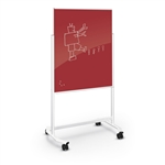 MooreCo Visionary Move Series Red Dry Erase Board