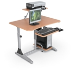 MooreCo Ergo E. Eazy Ergonomic Adjustable Workstation 82493M