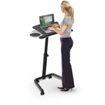 MooreCo Lapmatic Sit-Stand Mobile Workstation 89764