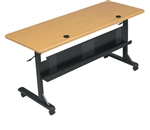 "MooreCo 60"" Flipper Table with Teak Top 89775M"