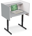 MooreCo 89789 Gray Height Adjustable Study Carrel