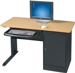 "MooreCo LX Series 48"" Teak Finished Workstation 89843"