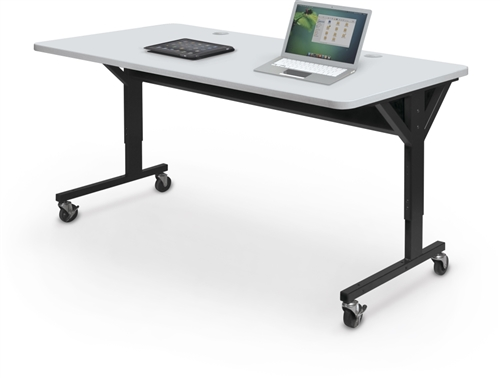 MooreCo Brawny Height Adjustable Training Room Tables - Training table sizes
