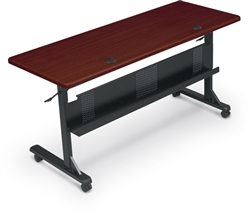 "MooreCo 60"" Mahogany Flipper Table 89879M"
