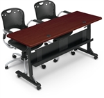 "MooreCo Mahogany Flipper Training Table with 72"" Top"