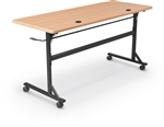 "MooreCo 60"" Economy Flipper Table with Teak Finish - 90093"