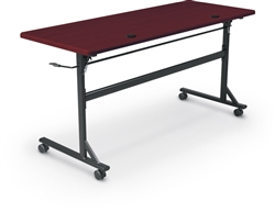 "MooreCo 90096 Economy Flipper Table with 60"" Top"