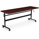 "MooreCo 72"" Mahogany Economy Flip Top Multi Purpose Nesting Table 90097"